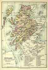 A4 Photo Map The Scottish Clans & their Tartans nd Scotland divided into clans P