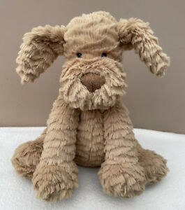 NEW Jellycat Medium Fuddlewuddle Puppy Dog Soft Toy Baby Comfort Tan Brown BNWOT