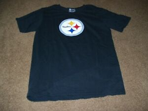 Pittsburgh Steelers NFL Boy's Youth Size XL Short Sleeve Shirt Black Pre-Owned