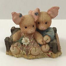 Enesco Tlp This Little Piggy 1994 Home Su-eet Sweet Home Girl and Boy Figurine