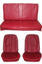 1970 Chevelle Standard Seat Upholstery Full Set, Convertible, Red