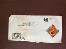 b1u ephemera stamped airmail franked spain iber piel