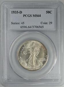 1935-D Walking Liberty Half Dollar PCGS MS64