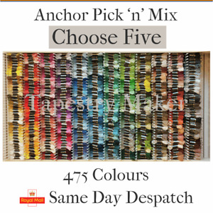 Anchor Tapestry Wool Pic & Mix  - Choose 5 x 10m
