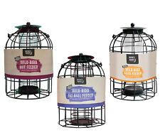 Metal Hanging Lantern Wild Bird Feeders Seeds Nuts Fat Balls Garden Cage Station