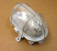 Kellerleuchte Kellerlampe Schiffsarmatur Ovalleuchte max. 60W E27 grau