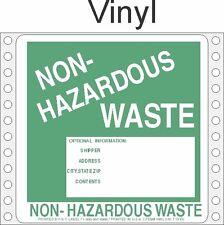 Non-Hazardous Waste Vinyl Labels HWL370V (PACK OF 500)