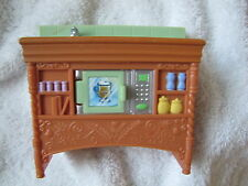 FISHER PRICE Loving Family Dollhouse KITCHEN COUNTER BAR Twin Time Microwave