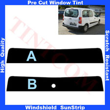 Pre Cut Window Tint Sunstrip for Citroen Berlingo 5 Doors 2008-... AnyShade