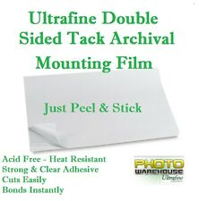 "Ultrafine Double Sided Tack Archival Mounting Film 18"" x 24"" / 10 Sheets"