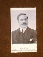 Deputati nel 1909 Gallo Giorgio di Girgenti e Baragiola Pietro di Erba