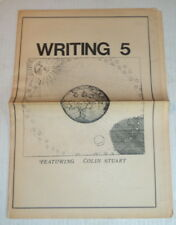 WRITING 5: FEATURING COLIN STUART - 1970 Vancouver Illustrated POETRY Newspaper