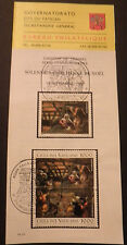 Vatican City Sc#968-70 FDC on Offical Bulletin; Christmas 1994