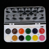 12/16/28/36 Solid Watercolor Portable Set For Drawing With wooden brush