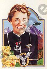 aviation art pilot postcard colour WW2 Insignia Luftwaffe Hanna Reitsch