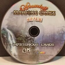 Amazing Mahjong Games 4 Pack: Mysterious Lands (PC, 2012) DISC ONLY #7296