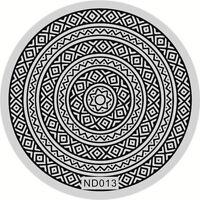 Nagel Kunst Schablone Stamping Rund Platte Maniküre Lace Muster DIY ND013
