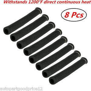 1200° Black Heat Shield Spark Plug Wire Protector Sleeve Covers SBC BBC 350 454