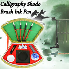 1set Chinese Calligraphy Brush Pen Ink Mixing Inkstone Writing Art Painting Tool