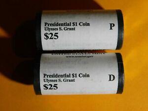 2011 Ulysses S Grant Presidential Dollar P & D Mint Roll OGP Sealed Boxes BL129