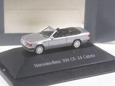 Top: Herpa colección mercedes benz 300 ce-24 cabrio plata metálica en PC-en su embalaje original