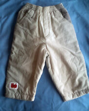 Boys French Designer Miniman Grey Faded Striped Trousers Age 12m RRP £31.99