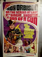 folded poster THE FASTEST GUITAR ALIVE 1967 Original USA 1sht 27x41 ROY ORBISON