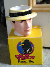 DICK TRACY FIGURAL COMICS 3-D COFFEE MUG by APPLAUSE in orig box 1980's era WOW!