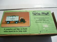 LOCO SHOP WHITE METAL SCAMMELL 6 TON TRACTOR AND TRAILER KIT BOXED UNUSED