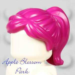 NEW Lego Female Minifig PINK HAIR - Dark Magenta Agent Girl Head Gear w/Ponytail