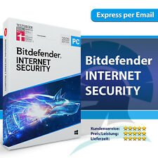 Bitdefender Internet Security 2021 (1 3 5 10 PC) 1, 2, 3 Jahre