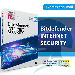 Bitdefender Internet Security 2021 (1 3 5 10 PC) 1, 2, 3 Jahre