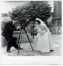 Photo Raoul Saguet - Photographie - Chambre - Tirage argentique d'époque 1955 -