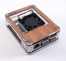 Zebra Wood Case with Fan for the ASUS Tinker Board  ~ C4Labs