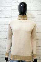 Levi's Maglione Cardigan Beige Uomo Taglia M Pullover Felpa Sweater Lana Man