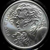 1 Oz Pure .999 Bare Silver Art Round #1 Bikini Girl Flipper Coin Lady w// Capsule