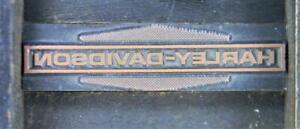 Letterpress Print Type Cut   38pt Harley Davidson Logo Motorcycle   S80 1#
