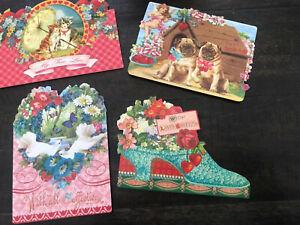 40 Valentine Cards From Rare Ephemera Pug Dogs Too!