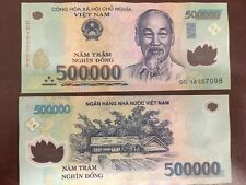 More details for 1m 500,000 x 2 vietnamese dong 2x 500,000 genuine, polymer, circulated bank note