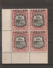 LABUAN 1897 6c brown-lake (perf 131/2)  corner marginal block of 4 mnh