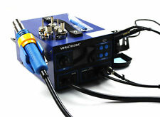 New Digital Display SMD Hot Air Gun Rework Soldering Iron Station Fume Extractor