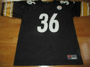 Vintage Nike JEROME BETTIS No 36 PITTSBURGH STEELERS (LG) Football Jersey