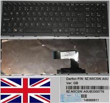 Clavier Qwerty UK SONY VAIO VPC-EL 9Z.N5CSW.A0U, 148968911 Noir/Black