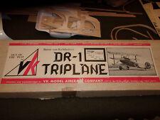 VK Fokker DR-1 Triplane Radio Control Model Airplane kit  vintage balsa wood lot