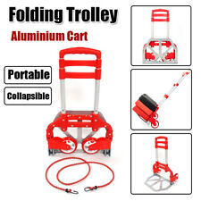 Foldable Cart Hand Truck Dolly Push Collapsible Trolley Luggage Aluminium Alloy