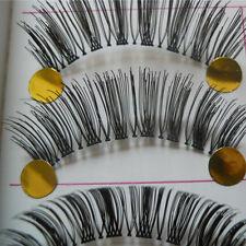 10Pairs Long Cross False Eyelashes Makeup Natural Fake Thick Black Eye Lashes Li