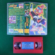 PAL/VHS - GRANDE MAZINGA GETTA ROBOT UFO ROBOT GOLDRAKE VS DRAGOSAURO (ITA 1975)