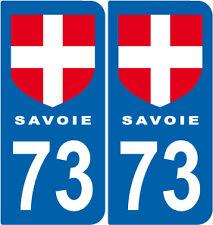 2 Stickers style plaque AUTO adhésif département 73 Savoie