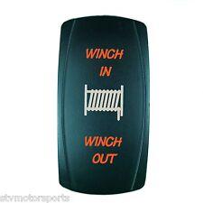 ORANGE LED MOMENTARY WINCH POWER IN/OUT ROCKER SWITCH 4WD 4X4 UTV WATERPROOF