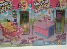 SHOPKINS KINSTRUCTIONS, PINK SHOPPING CART AND CHECKOUT LANE, NEW